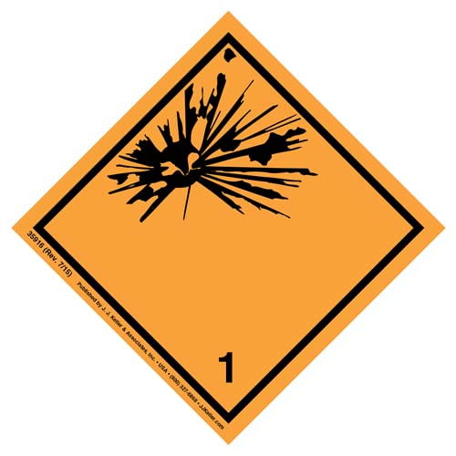 Explosives Label - Class 1, Subsidiary Risk - Poly (07843)