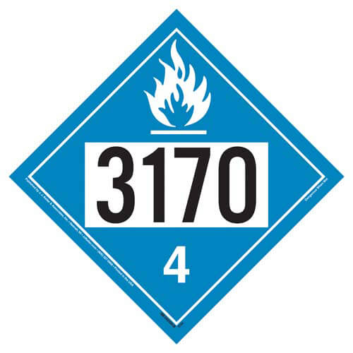 3170 Placard - Division 4.3 Dangerous When Wet (02227)