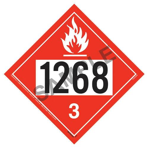 1268 Placard - Class 3 Flammable Liquid (02220)