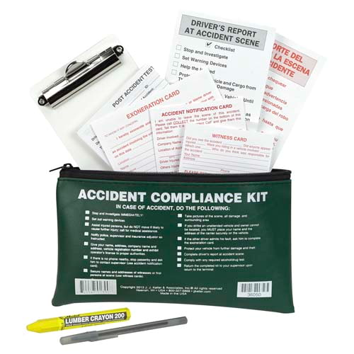 Accident Compliance Kit in Vinyl Pouch - No Camera, Bilingual (07999)