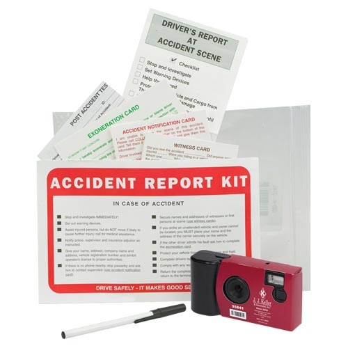 Accident Compliance Kit in Poly Bag w/ Single-Use Digital Camera (07936)