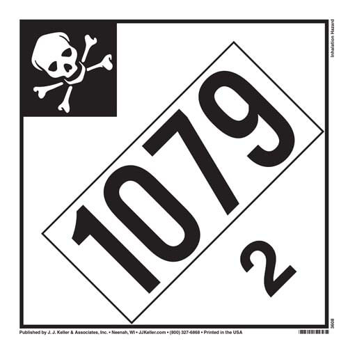 1079 Placard - Division 2.3 Inhalation Hazard (02374)