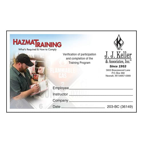 Hazmat Training: What's Required & How To Comply - Wallet Card (07980)