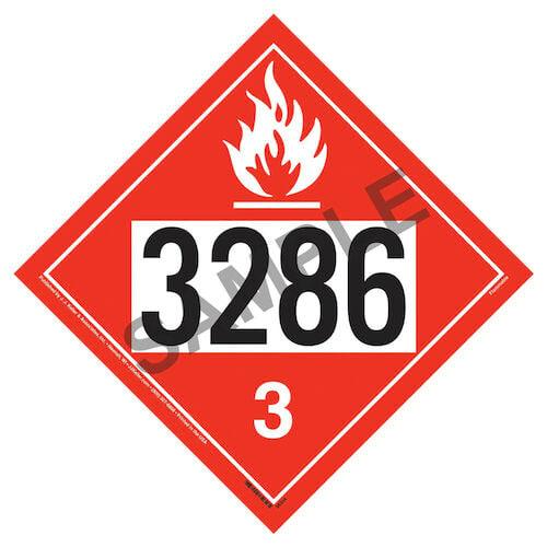 1268/3286 Placard - Class 3 Flammable Liquid (07997)