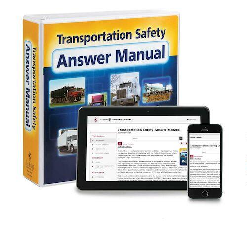 Transportation Safety Answer Manual (00309)