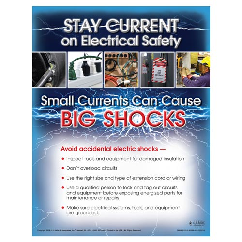 Stay Current On Electrical Safety - Workplace Safety Training Poster (08010)