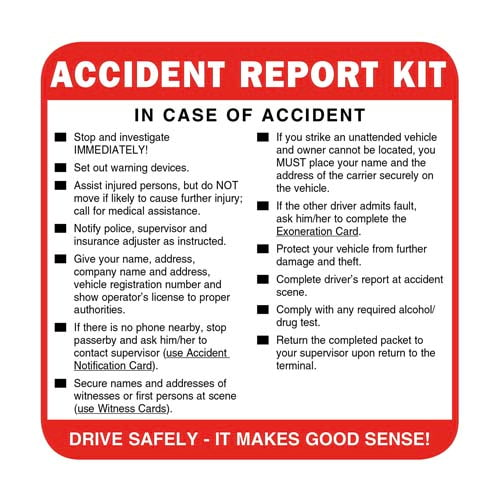 Accident Report Kit (08152)