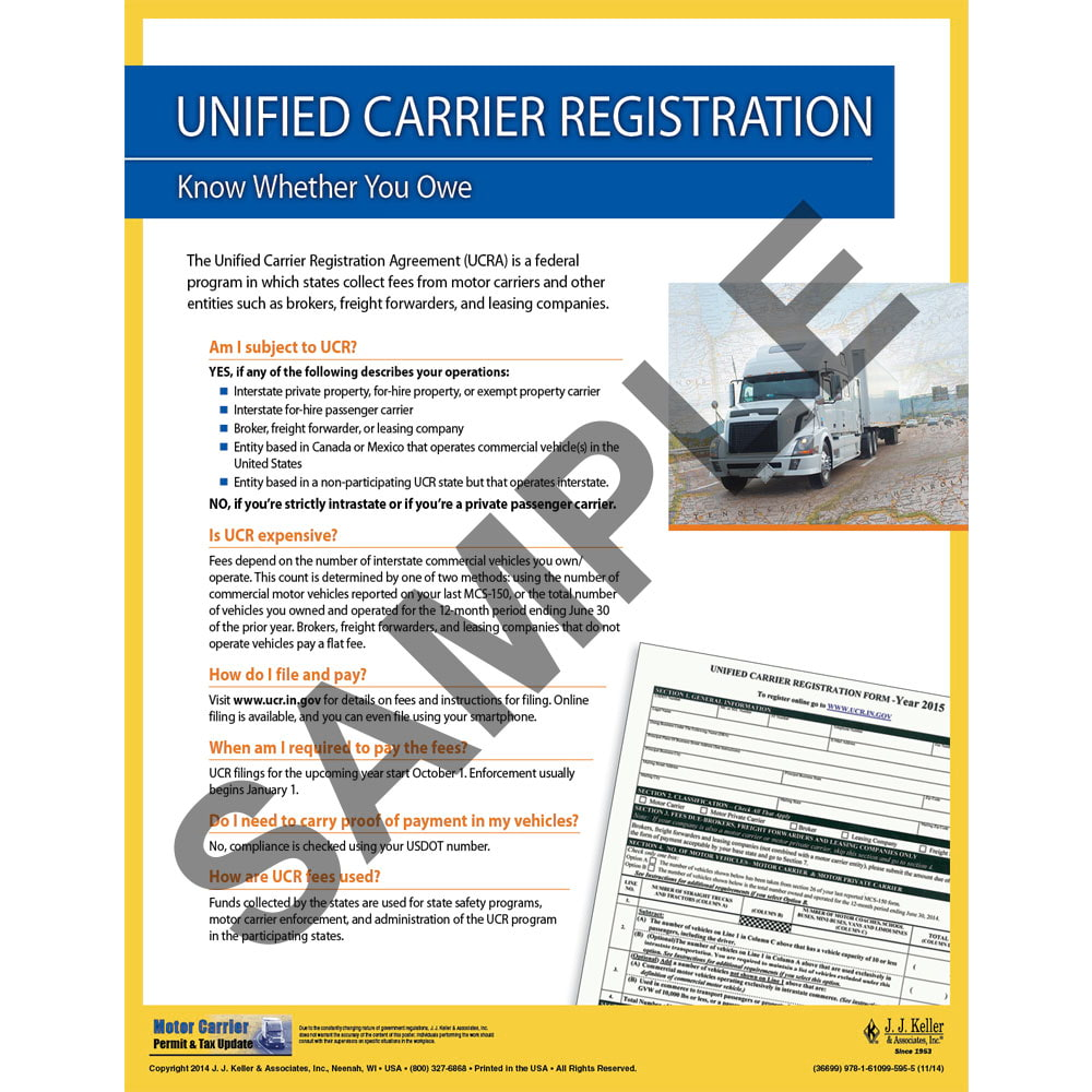Unified Carrier Registration Motor Carrier Safety Poster
