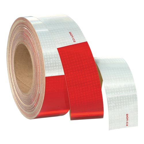 "Conspicuity Tape Rolls for Trailers - 11"" Red / 7"" White, Reflexite (01398)"