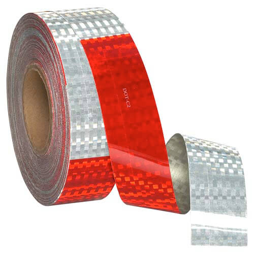 """Conspicuity Tape Rolls for Trailers - 11"""" Red / 7"""" White, Avery Dennison, 10-Year Warranty (03928)"""