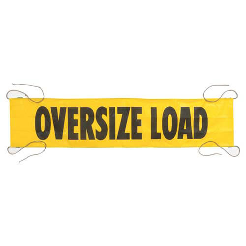 Mesh Oversize Load Banner w/ Ropes Sewn In (01404)