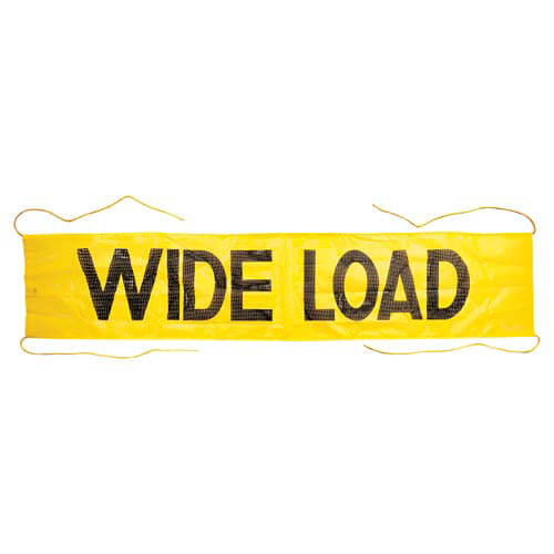 Mesh Wide Load Banner w/ Ropes Sewn In (01405)
