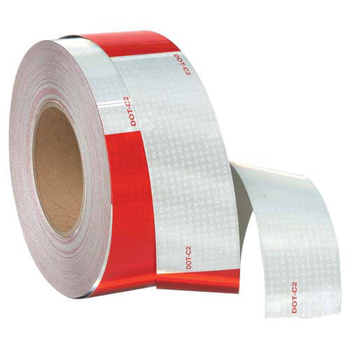 "Conspicuity Tape Rolls for Trailers - 6"" Red & White, Avery Dennison (05736)"