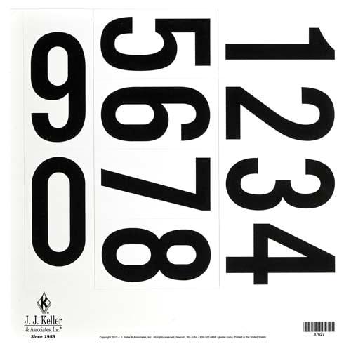 "3.5"" 0-9 Vinyl Number Sheet (08370)"