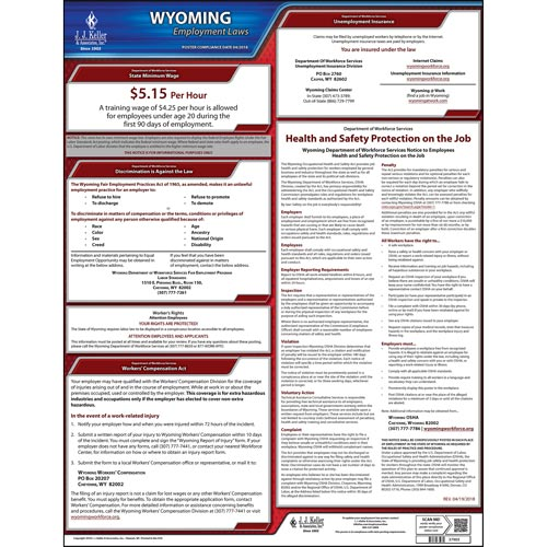 Wyoming & Federal Labor Law Posters (03967)