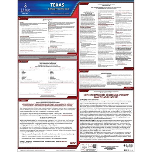 Texas & Federal Labor Law Posters (03965)