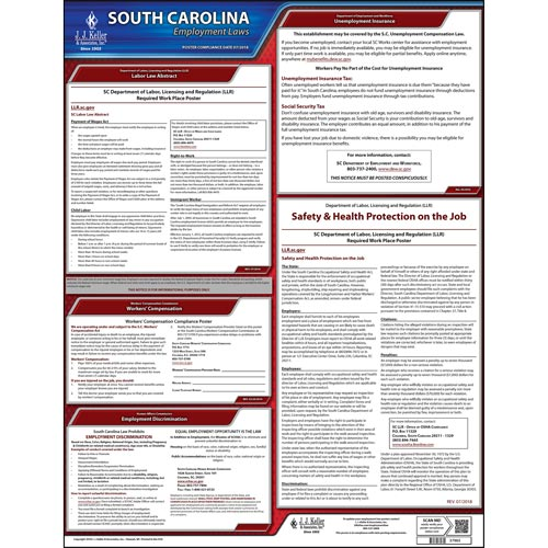 2019 South Carolina & Federal Labor Law Posters (03963)