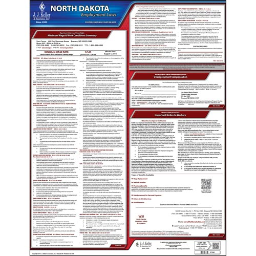 2021 North Dakota & Federal Labor Law Posters (03959)