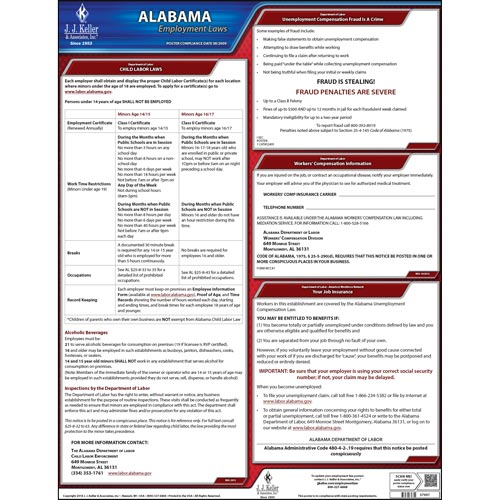 Alabama & Federal Labor Law Posters (03950)