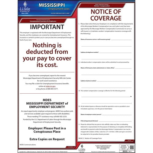 2020 Mississippi & Federal Labor Law Posters (03977)