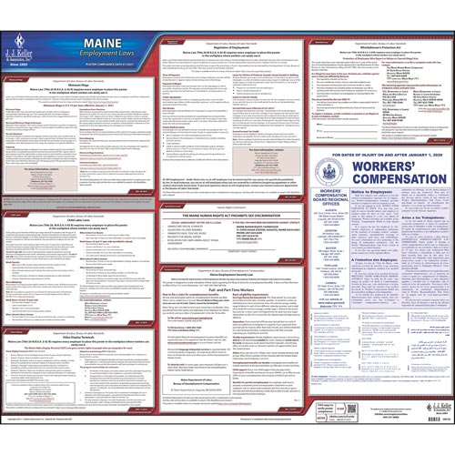 2020 Maine & Federal Labor Law Posters (03956)