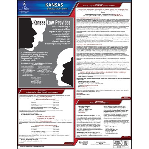 Kansas & Federal Labor Law Posters (03989)