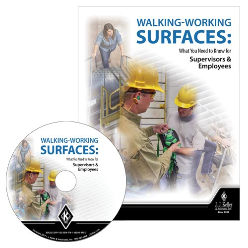 Walking-Working Surfaces: What You Need to Know for Supervisors and Employees - DVD Training (08424)