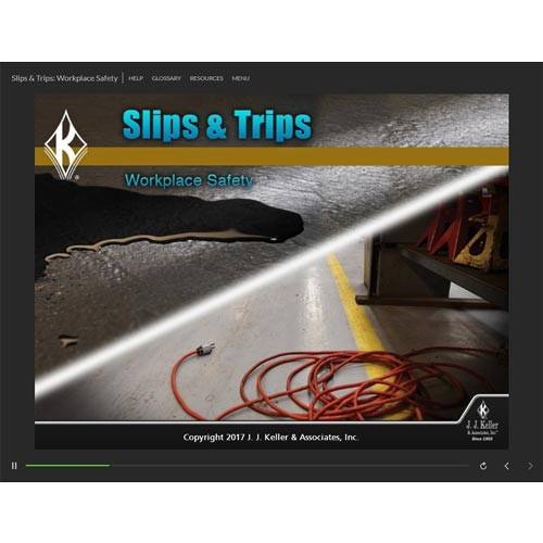 Slips & Trips: Workplace Safety - Online Training Course (09242)
