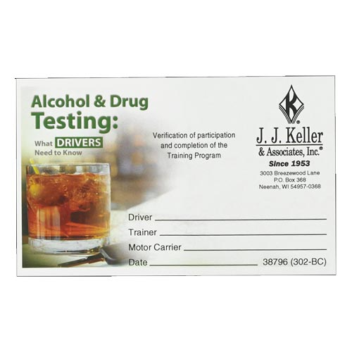 Alcohol & Drug Testing: What Drivers Need to Know - Wallet Cards (08448)