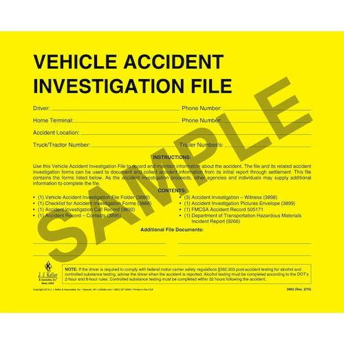 Vehicle Accident Investigation File Folder (01156)
