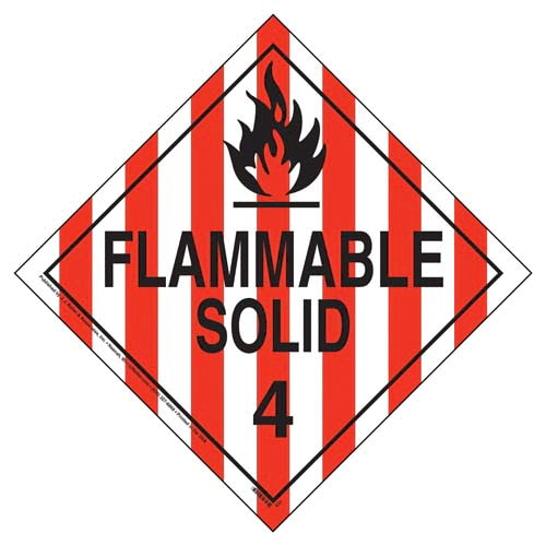 Division 4.1 Flammable Solid Placard - Worded (02483)