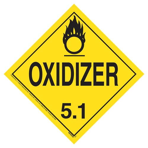 Division 5.1 Oxidizer Placard - Worded (02396)
