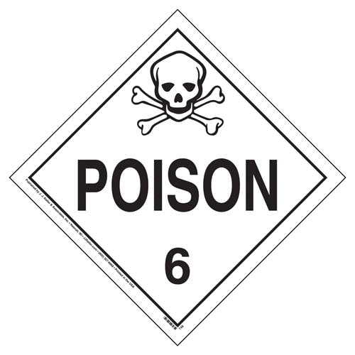 Division 6.1 Poison Placard - Worded (02406)