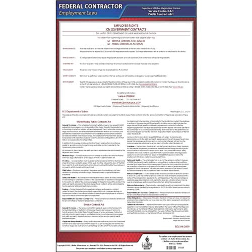 Walsh-Healey, McNamara-O'Hara Federal Contract Poster (02041)