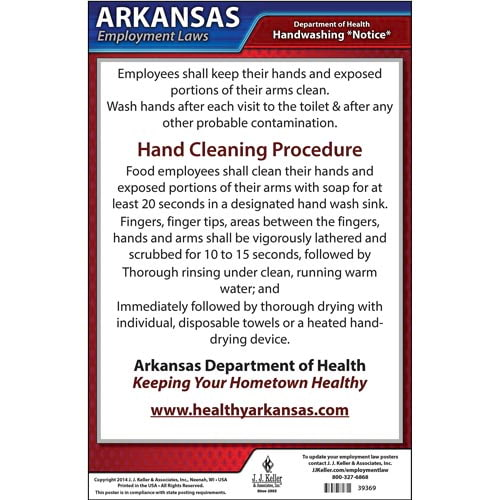 Arkansas Hand Washing Poster (04930)