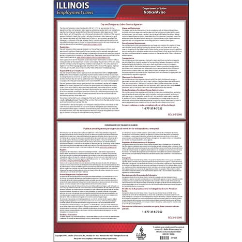 Illinois Day & Temporary Labor Service Act Poster (04941)