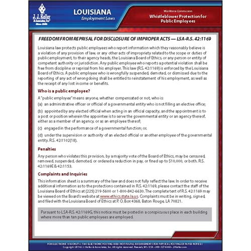 Louisiana Whistleblower Poster (04944)