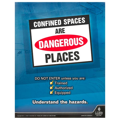 Confined Spaces: Entry Team Training - Awareness Poster (08610)