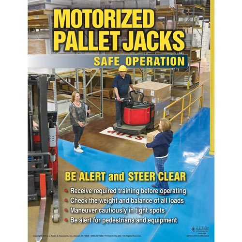 Motorized Pallet Jacks: Safe Operation - Awareness Poster (08614)