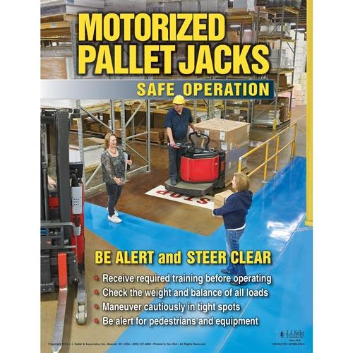 Motorized Pallet Jacks: Safe Operation - Awareness Poster (08614)