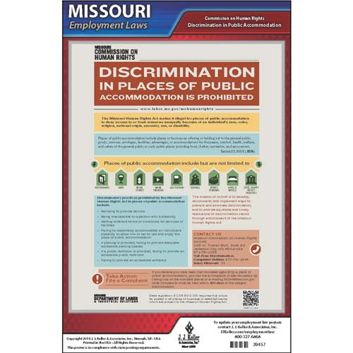 Missouri Discrimination in Public Accommodations Poster (04952)