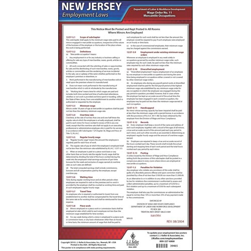 New Jersey Wage Orders (04955)