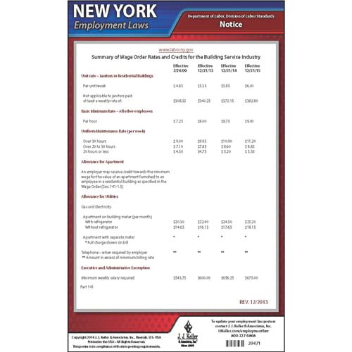 New York Wage Orders