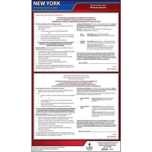 New York Transportation Industry Fair Play Act Poster (08910)