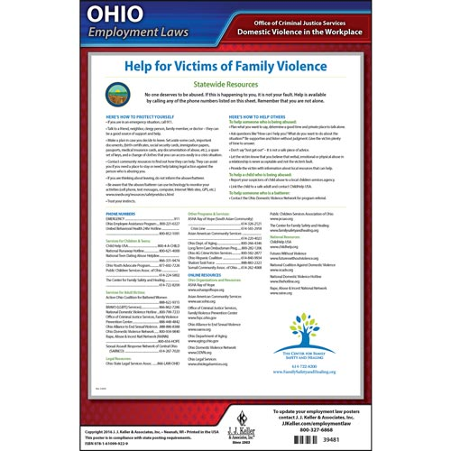 Ohio Workplace Domestic Violence Poster (04965)
