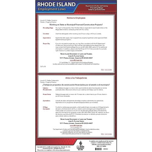 Rhode Island Prevailing Wage Poster (04972)