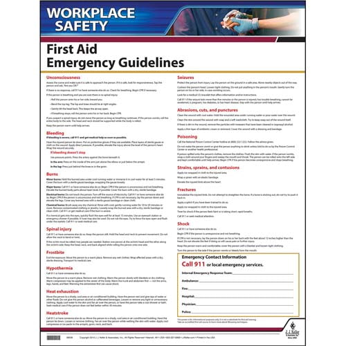 first aid guidelines instructional chart