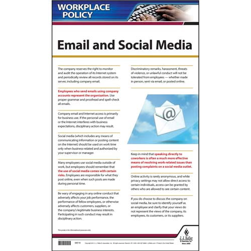 Social Media  Email Policy Poster