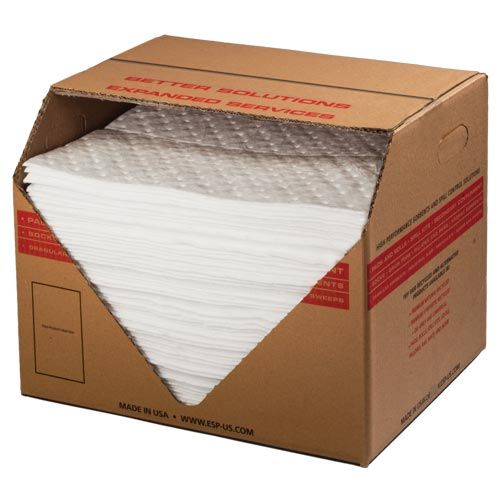 Elite Extra Heavy Weight Oil-Only Sorbent Pads - Box of 100 (08621)