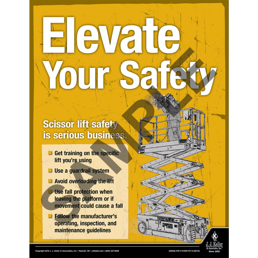 Elevate Your Safety - Construction Safety Poster (08694)